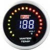 ของแต่งรถ เกจ์Water-Temp Auto-Gauge 52mm (LCD+LED) (Water-Temp+Volt) AGWTLCD-C